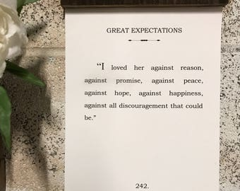 Book Page Quote Art - Great Expectations