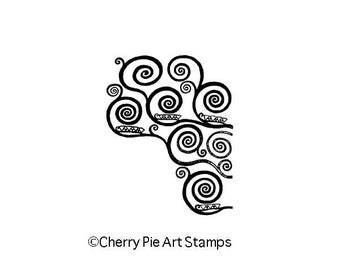 Spirals by Gustav KLIMT - small size- CLiNG RuBBer STAMP L333