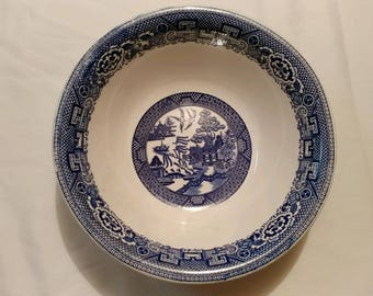 Homer Laughlin Blue Willow Serving Bowl