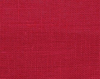 Lipstick Red Solid Linen Fabric / Textiles / Fabric by the Yard