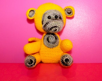 Monkey Crochet Stuffed Toy