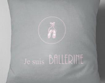 "Decorative pillow ""I'm ballerina"""
