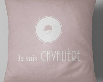 "Decorative pillow ""I'm Cavalier"""