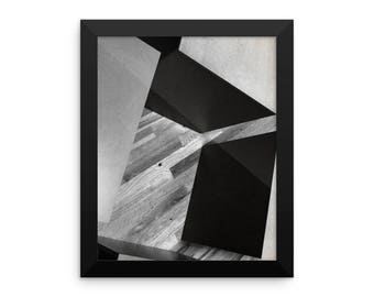 Black and White Geometric Photographic Framed Poster