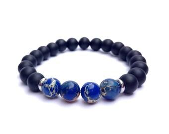 Chakra bracelet men Regalite bracelet Onyx bracelet beaded bracelet women bracelet man bracelet energy bracelet healing bracelet - 8mm