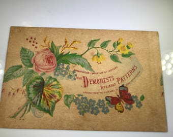 1800's Victorian Trade Card - Demorest's Reliable Patterns