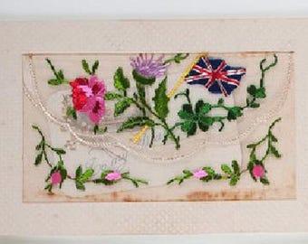 Hand-Embroidered World War I (WWI) Postcards