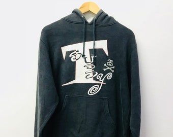 FREE SHIPPINg!!! Vintage Stussy Hoodies Big Logo Blue Colour Medium Size