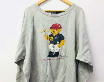 FREE SHIPPING!!! Vintage 90's Polo Bear By Ralph Lauren Sweatshirt Large Size