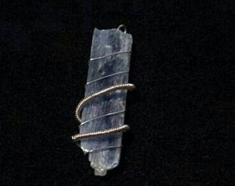 Kyanite Wire Wrap Pendant