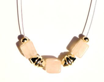 Necklace with Rose Quartz