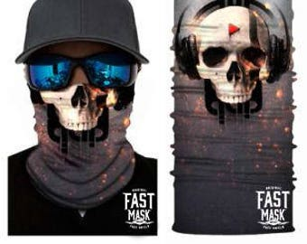 Go DJ Face Shield- Free Shipping to Canada & USA - 100% Microfibre | Face Mask | Biker Face Shield | Bandana | Tubular Bandana
