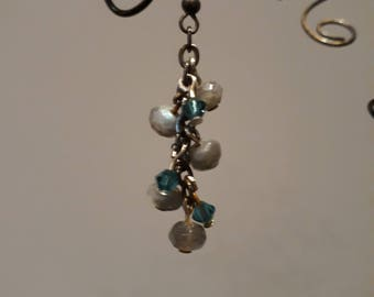 Labradorite & Swarovski Earrings