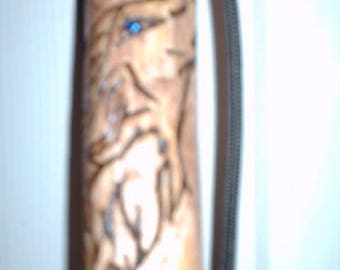 Tribal Wolf Hiking Stick