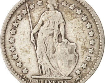 switzerland franc 1914 bern vf(30-35) silver km24
