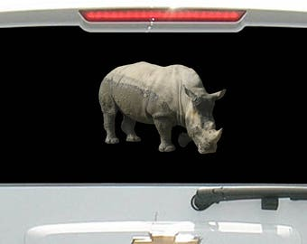 Standing Rihno Safari Wild Animal