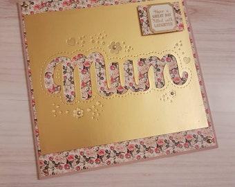 6x6 greetings card - mum