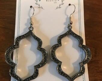 Cutout Sparkle Earrings
