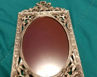 VINTAGE SILVER-PEWTER picture frames lot of 2.
