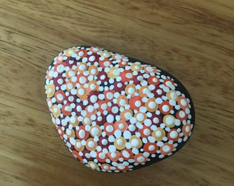 Dot painted rock