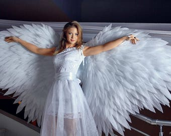 Angel wings costume, White wings, Cosplay wings, wings for dances, wings for a show, form N2
