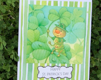 Upcycled St. Patrick's Day Card