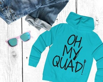 Oh My Quad (Colorguard Winterguard) Girlie College Hoodie - Color Guard / Winter Guard Rifle Sabre