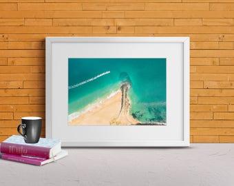 Print | Wall Art | Drone Photography | Beach landscape | Framed & Unframed | Digital Download | Poster| 'Jetski on Point'