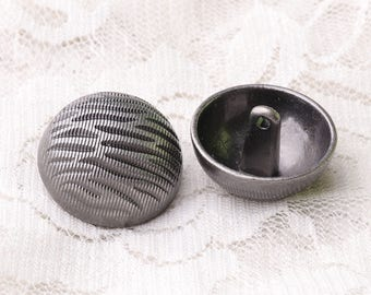 metal buttons 6pcs 23*15mm large buttons round buttons light black buttons shank buttons striped buttons