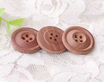 round brown buttons natural wood buttons diameter 22mm 10pcs 4 holes sewing buttons blouse buttons wooden buttons for clothes sewing