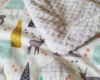 Woodland Greg Baby Blanket