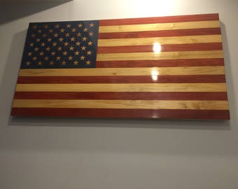 GIANT Wooden American Flag