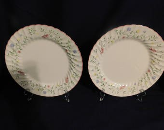 Johnson Brothers Bone China England Summer Chintz Dinner Plates - 2  1988 Vintage
