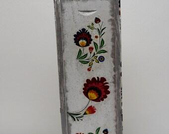 Wooden Wine Box. Handmade,decoupage, gift,birthday gift,wine,folk pattern