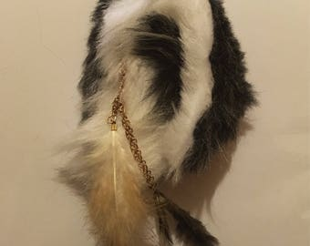 Feather Wolf Ears Pet Play Costume