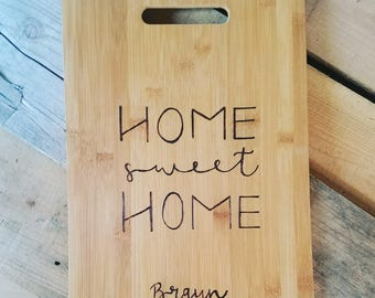 Cutting Board wood burned personalized gift