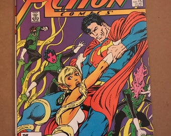 1987 Superman and the Green Lantern Corps Action Comics #589