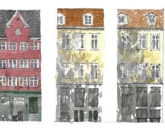 COPENHAGEN facade, print