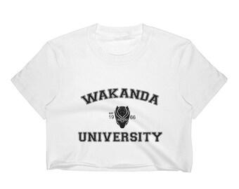 Wakanda university Women's Crop Top