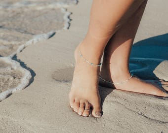 Solid Sterling Silver Anklets