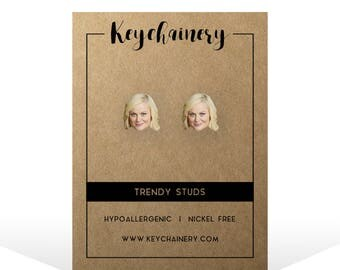 Leslie Knope Stud Earrings - Parks and Rec - Parks and Rec Studs - Leslie Knope Parks and Recreation