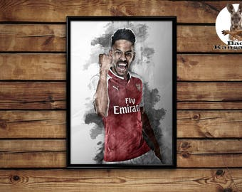 Aubameyang print wall art home decor poster