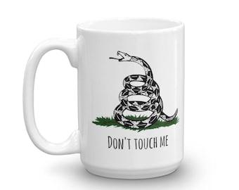 "Gadsden Flag ""Don't Touch me"" Mug made in the USA 11oz/15oz"