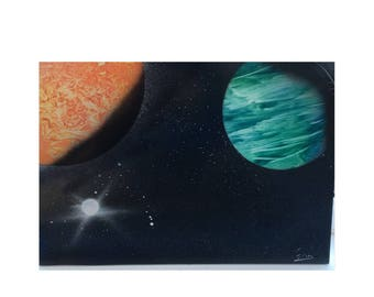 Wild Planets Spray Paint Art