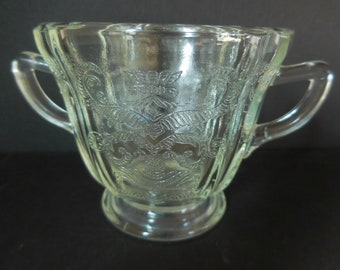 Vintage Madrid Pattern Sugar Bowl with Two Handles