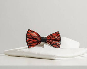 Hand painted bow tie and resin made in Italy