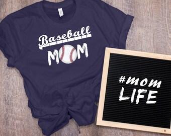 Baseball Mom Women's T Shirt UNISEX Bella Canvas Soft Style Motherhood #momlife ladies shirt mom life