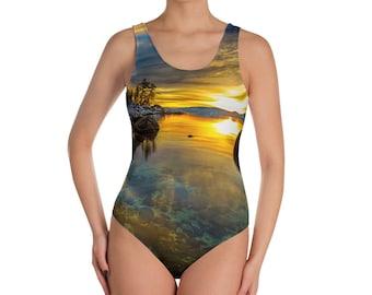 Tahoe Sunset One-Piece Swimsuit