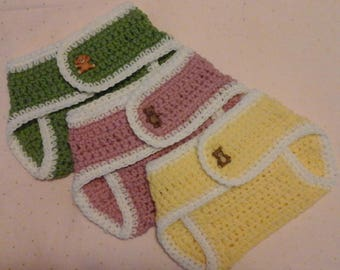 Crochet Diaper Cover Set of 3