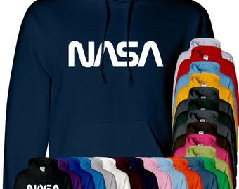 Nasa Space Astronaut Mens Hoodie Rocket Moon Hoody Pullover